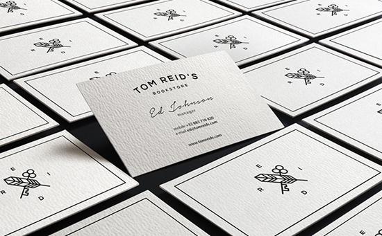 Thiết kế nhận diện thương hiệu Tom Reid's Bookstore bởi Sebastian Bednarek