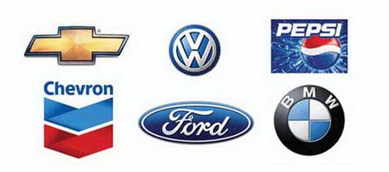 Những logo mang phong cách thiết kế 3D.