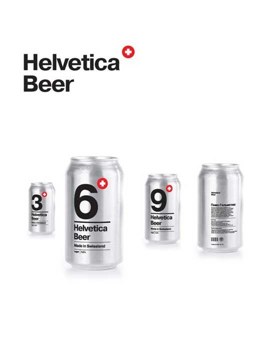 58 mẫu thiết kế bao bì tuyệt đẹp - Helvetica Beer