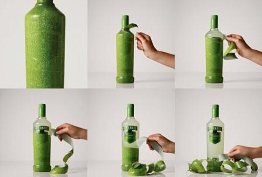 58 mẫu thiết kế bao bì tuyệt đẹp - Smirnoff Caipiroska peelable bottle