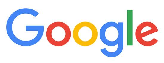Một kiểu chữ không có bất kì dấu móc nào (sans-serif) đã được Google chọn vì sự đơn giản và nổi bật của nó, ngoài ra còn kết hợp với nhiều màu sắc đặc trưng cho công ty.