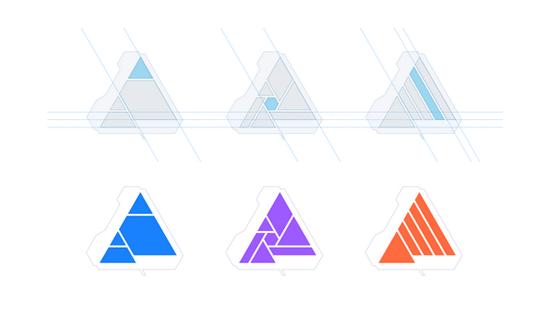 Hệ thống lưới bộ nhận diện thương hiệu mới của Affinity
