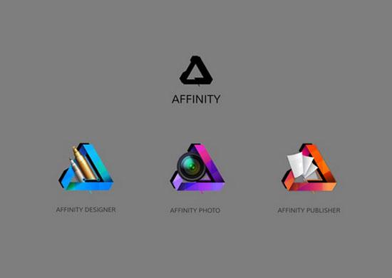 Bộ nhận diện thương hiệu cũ của Affinity