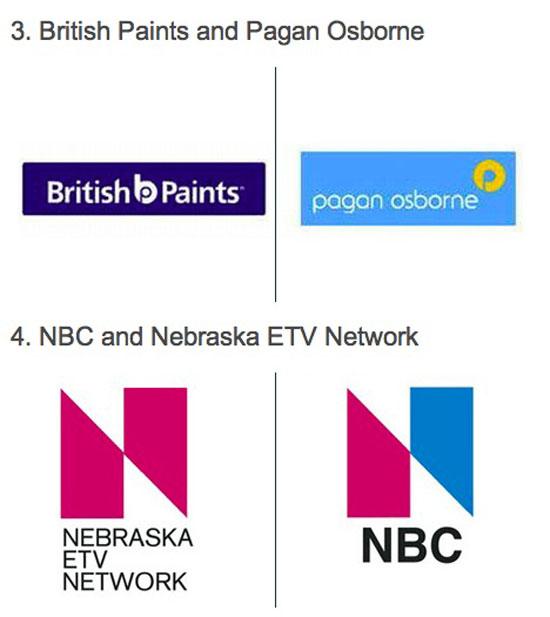 Các thương hiệu nổi tiếng có logo vô tình giống nhau