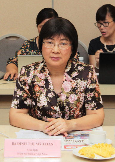Bà Đinh Thị Mỹ Loan – Chủ tịch Hiệp hội bán lẻ Việt Nam