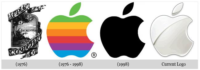 Chưa đầy một năm sử dụng, Steve Jobs cho thiết kế lại logo Apple với những đường nét đơn giản hơn rất nhiều.