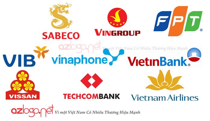 Những thương hiệu Việt Nam có sử dụng biểu tượng làm thương hiệu.