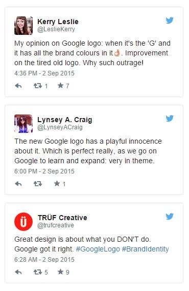 Hãy thử tìm kiếm từ khóa #GoogleLogo trên Tweeter và bạn sẽ thấy 1 cơn lốc tweets phản ứng dữ dội. Ngạc nhiên hơn, cơn lốc này lại hướng về phía những thái độ tích cực và hào hứng của người dùng.