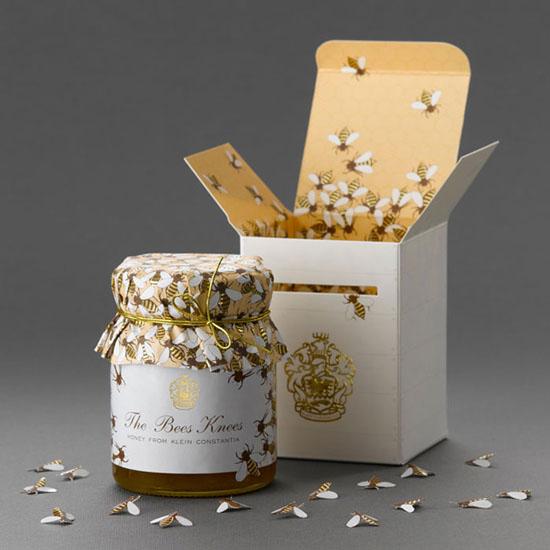 thiết kế bao bì hộp đựng mật ong: The Bees Knees