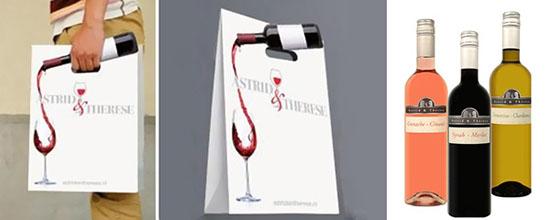 Đây đơn giản là một ý tưởng quảng cáo thú vị của thương hiệu rượu vang Astrid & Therese.