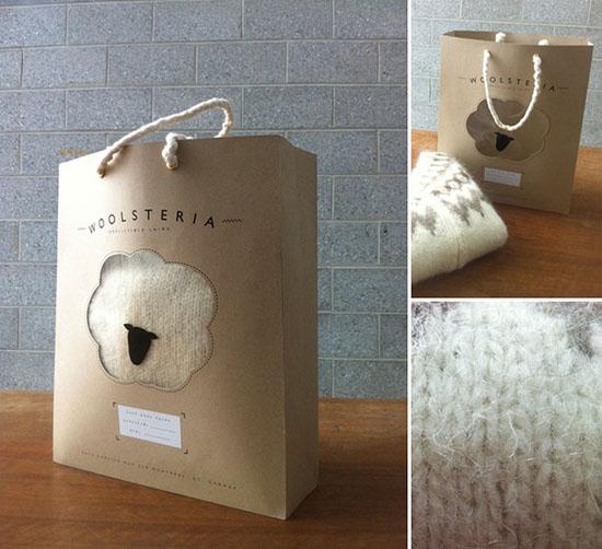 Một thiết kế túi đơn giản và độc đáo của nhà thiết kế Sarah Fløe Stenberg dành cho cửa hàng len cừu Woolsteria.