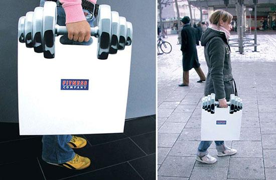 Thông điệp về giá trị của việc tập thể hình được Fitnesss Company gửi đi thông qua một thiết kế túi rất sáng tạo. Ý tưởng này là của công ty thiết kế Publicis đến từ Đức.