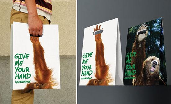 Thông điệp của chiếc túi này là rất rõ ràng, đó là hay cứu lấy các loài động vật trước nạn săn bắn động vật đang diễn ra tràn lan. Ý tưởng này là của công ty quảng cáo Dentsu đến từ Bắc Kinh, Trưng Quốc.