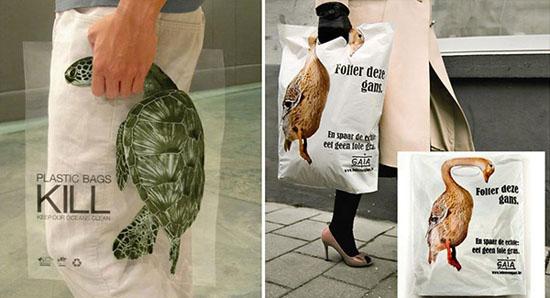 Thông điệp của GAIA đó là những túi nhựa mà chúng ta đang sử dụng hàng ngày sẽ có thể giết chết các loại động vật. Ý tưởng này là của công ty quảng cáo BBDO Malaysia.
