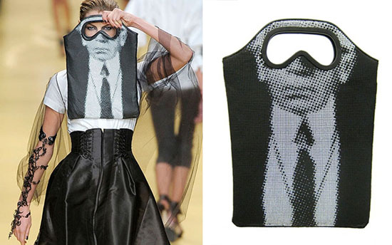Chiếc túi này xuất hiện như một phụ kiện trong một chương trình biểu diễn thời trang.