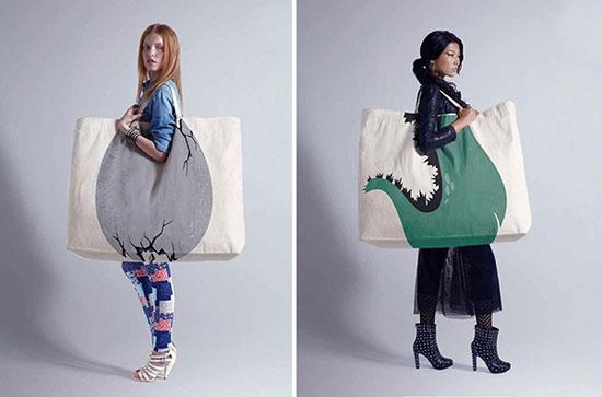 Công ty quảng cáo McCann Erickson đến từ Thượng Hải đã tạo ra những chiếc túi độc đáo này để quảng bá cho cho tổ hợp mua sắm San Li Tun Village tại Thượng Hải, Trung Quốc