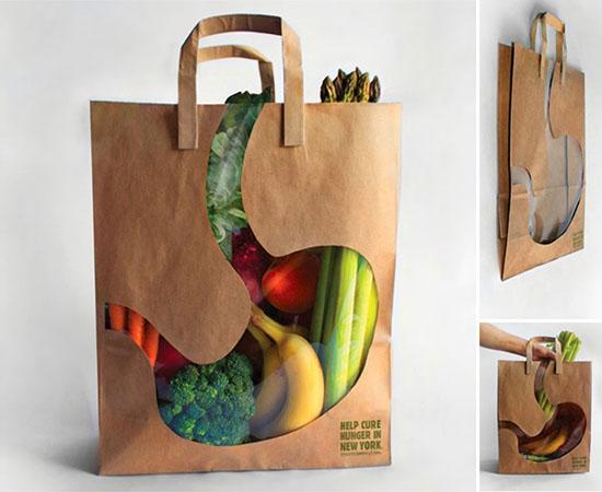 Một chiếc túi được tạo ra bởi hai nhà thiết kế Andy Winner và One Show Merit, ngoài tác dụng là một chiếc túi đựng thực phẩm rất sáng tạo ra thì nó còn muốn truyền đi thông điệp và việc cứu giúp những người vô gia cư ở thành phố New York thoát khỏi nạn đói.