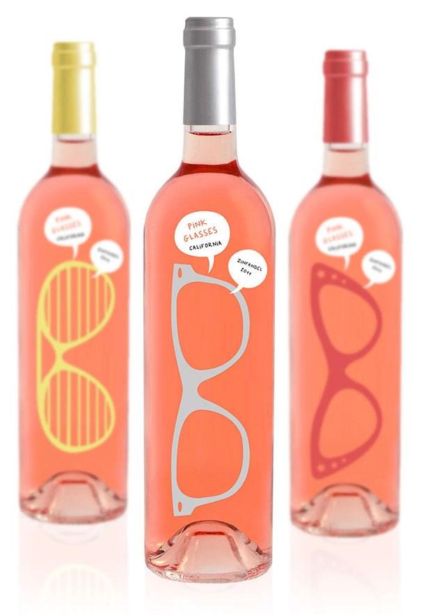 Chai rượu vang trong suốt hình kính