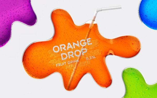 Thiết kế bao bì Nước quả Orange Drop