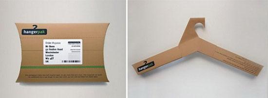 Một ví dụ khác về cách thức sáng tạo một bao bì sản phẩm sử dụng dụng với nhiều mục đích của hãng HangerPak – cách sử dụng đơn giản nhưng rất thông minh và thực tế trong việc xử lí chất liệu.