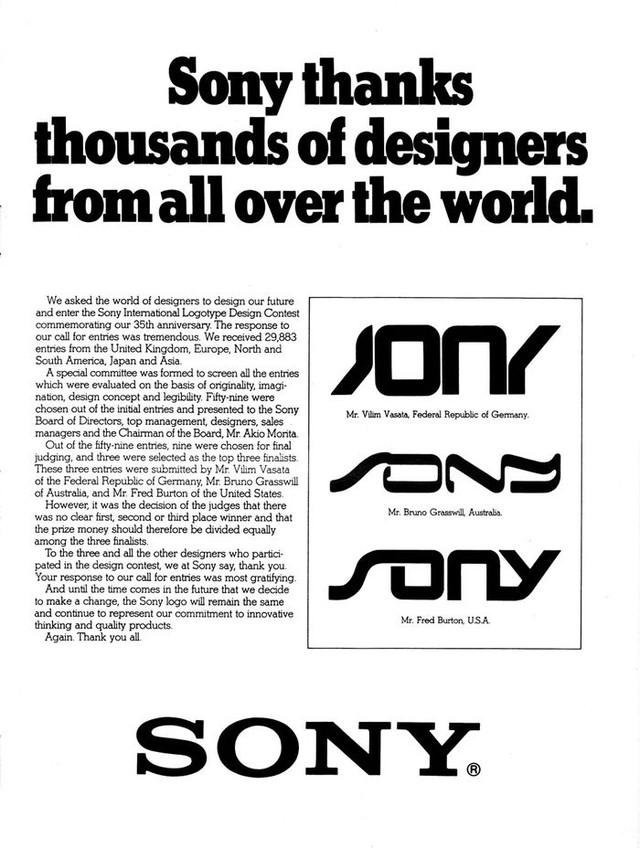 Sony và câu chuyện về thiết kế logo đến từ cộng đồng