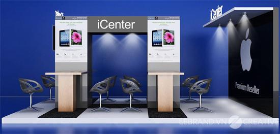 Thiết kế thương hiệu và hệ thống nhận diện thương hiệu - Gian hàng triển lãm icenter