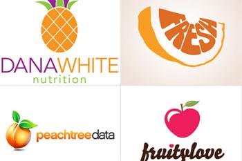 Những thiết kế logo đầy màu sắc trái cây