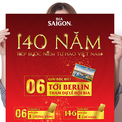 Beer SaiGon's 140th Anniversary Poster