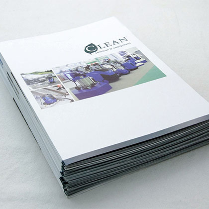 Brochure technology equipment