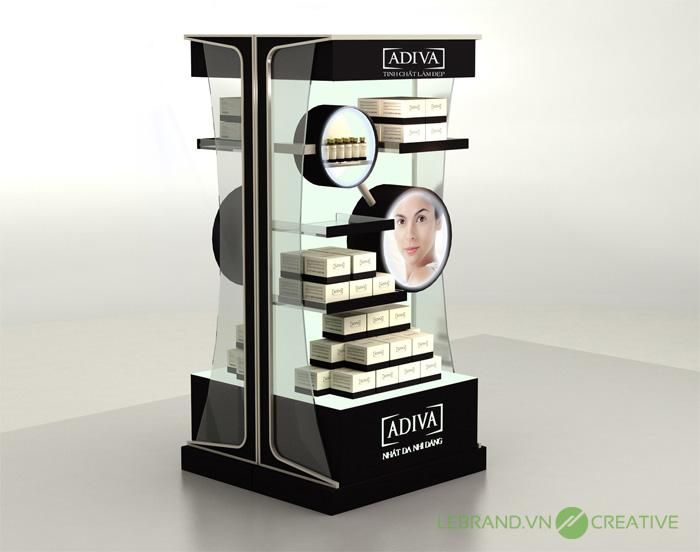 thiết kế Posm thể hiện được thông tin mà nhà cung cấp muốn gởi đến cho khách hàng thông qua sự thẩm mỹ về bao bì