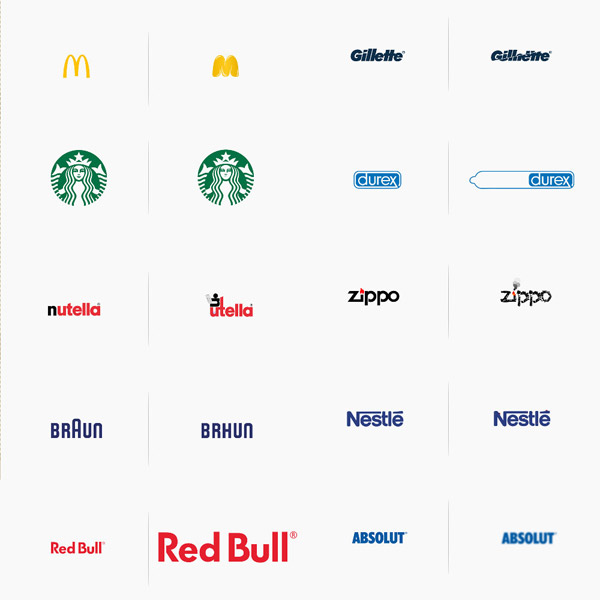 logo tương phản hình ảnh thương hiệu