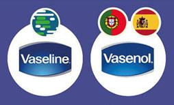 Thương hiệu sản phẩm chữa khô môi, nứt đầu gối... đã lấy teen là Vasenol tại quốc gia nói tiếng Tây Ban Nha và Bồ Đào Nha vì Vaseline chỉ nhắc tới sản phẩm chung hơn là tên thương hiệu.