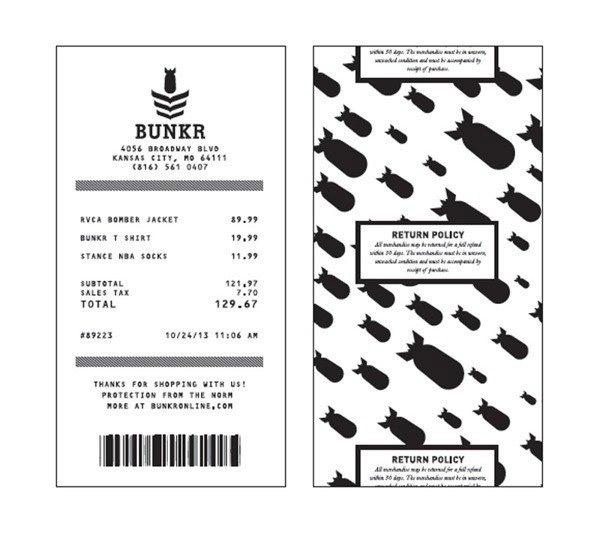 Bạn có thể thấy pattern chuyển thành màu trắng-đen khi dùng cho hóa đơn, nhưng tại hình kế bên, pattern này dùng màu sắc đầy đủ cho thiết kế của phong bì.