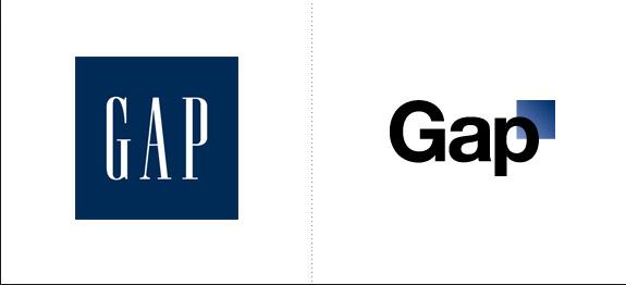 Mùa giáng sinh năm 2010, Gap tung ra logo mới, làm lại thương hiệu với tổng chi phí 100 triệu USD.