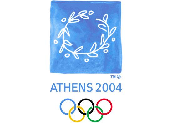 Năm 2004, Thế vận hội trở về Athens, và thiết kế logo tập trung vào các di sản của Hy Lạp
