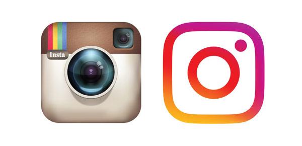 Logo mới của Instagram (bên phải) phù hợp để xem trên những màn hình nhỏ hơn người tiền nhiệm (bên trái)