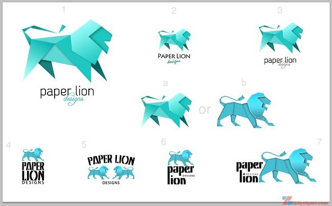Bộ sưu tập những logo thiết kế theo phong cách origami ấn tượng