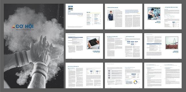 Tăng động nhận diện bằng thiết kế báo cáo thường niên