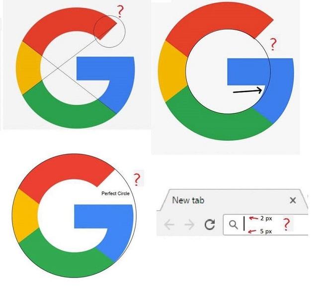 Logo của Google: Mâu thuẫn giữa hiệu ứng quang học và chỉ số thực tế