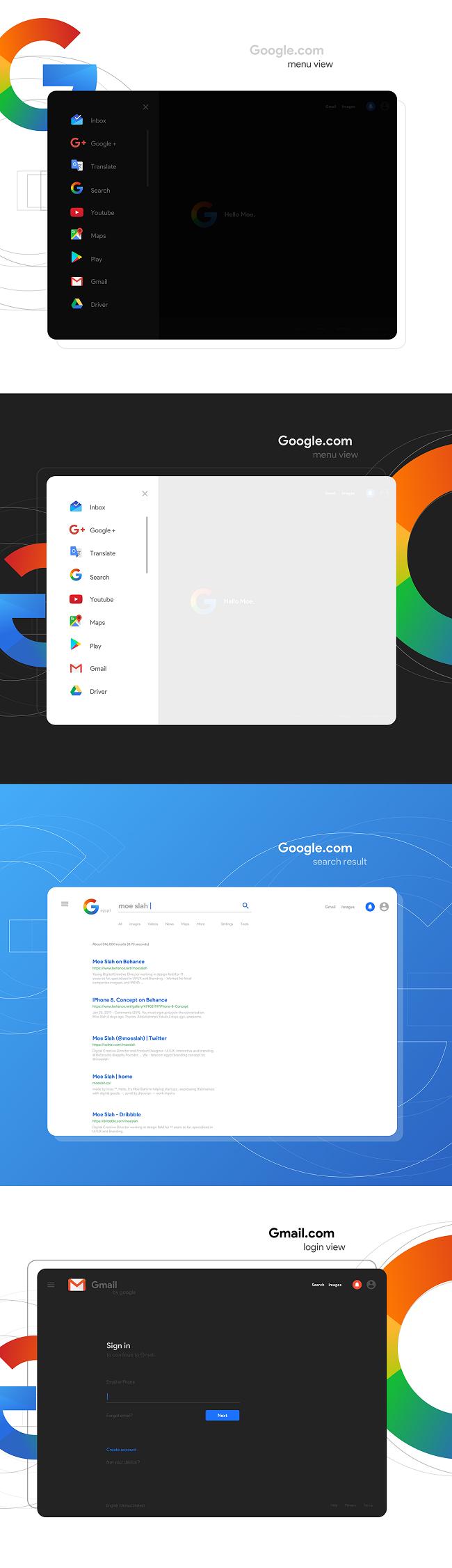 Logo Google ấn tượng trong màu sắc Gradient