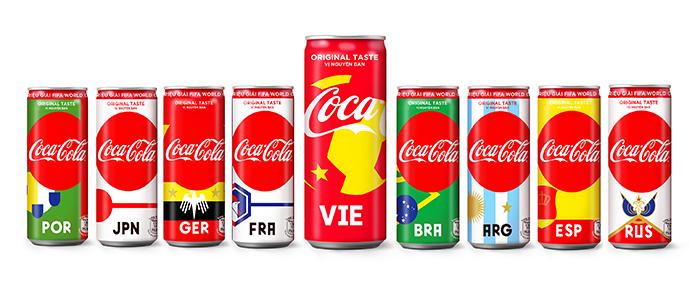 Coca-Cola ra mắt phiên bản bao bì lon gắn với bóng đá Việt