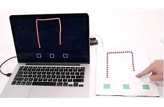 Giấy cảm ứng có thể số hóa hình vẽ tay hiển thị trên máy tính