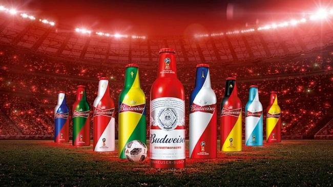 Budweiser tung ra thiết kế vỏ chai rực rỡ World Cup 2018