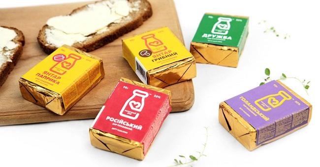 Thiết kế nhân diện đề cao tính tiết kiệm của thương hiệu sữa Molochnyi Dar