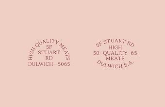 Khám phá bộ nhận diện thương hiệu của cửa hàng thịt Dulwich Butchery