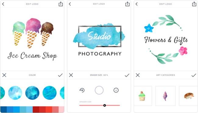 Những ứng dụng thiết kế logo trên mobile cho người không chuyên