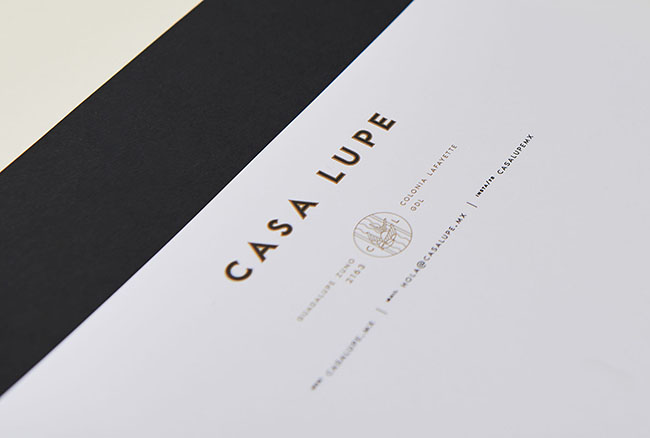 Hình ảnh thiết kế thương hiệu sáng tạo của Airbnb Casa Lupe tại Mexico