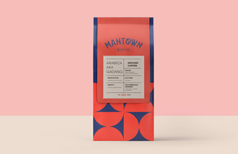 Khám phá thiết kế bộ nhận diện thương hiệu hình học ấn tượng của ManTown Koffie
