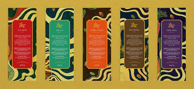 Mẫu thiết kế bao bì chocolate đậm văn hoá Việt