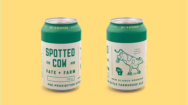 Tinh thần nông nghiệp trong mẫu thiết kế bao bì bia Spotted Cow